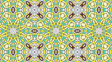 Abstract Ethnic Authentic Symmetric Pattern Ornamental Decorative Kaleidoscope