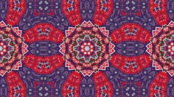Kaléidoscope décoratif symétrique authentique ethnique abstrait video