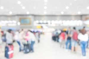 Abstract defocused airport interior for background