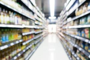 Abstract defocused supermarket interior for background