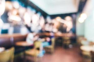 Restaurante desenfocado abstracto y interior de cafetería