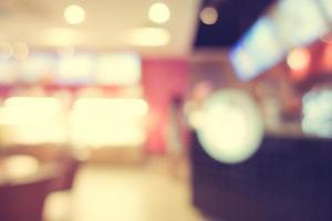 Restaurante desenfocado abstracto y interior de cafetería foto