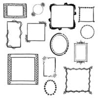 Hand Drawn Decorative Frames vector