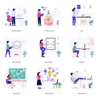 Business and Official Activities vector