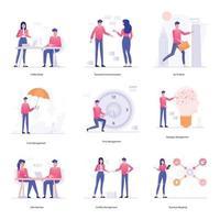 gestión empresarial y del lugar de trabajo vector