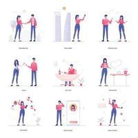 actividades sociales y comunicación vector