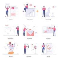 campañas de marketing online vector