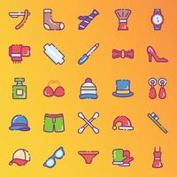 Personal Hygiene and Fashion Accessories Stickers vector
