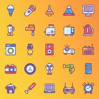 Modern House Appliances Stickers vector