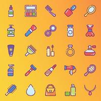 Beauty and Makeup Accessories Stickers vector
