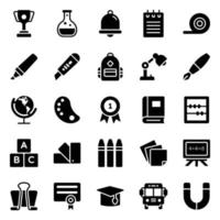 Educational and Stationery Stickers vector