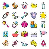 accesorios para bebés recién nacidos vector