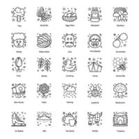 Summer, Winter, Spring and Autumn Icons vector