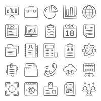 iconos de doodle de negocios vector