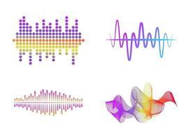 espectro de frecuencia de audio vector