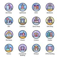 Modern Building Icons vector