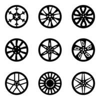 Variety of Car Rims vector