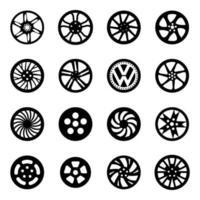 Different Design of Car Rims vector