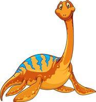 A pliosaurus dinosaur cartoon character vector
