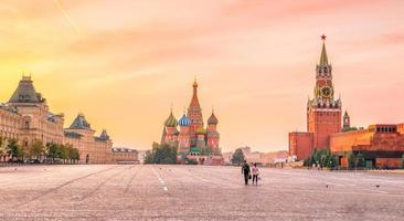 Basil's cathedral at Red square in Moscow photo