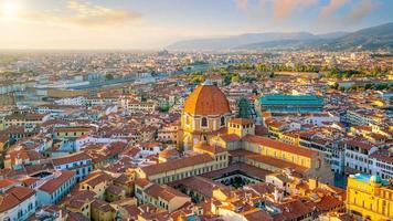 Vista del horizonte de Florencia desde la vista superior