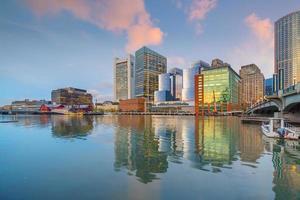horizonte del centro de la ciudad de boston, estados unidos