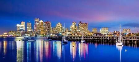 vista panorámica del horizonte de boston foto