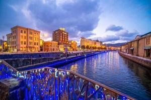 Cityscape of Otaru, Japan canal and historic warehouse, Sapporo