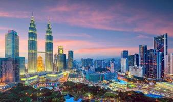 Kuala Lumper skyline at twilight photo