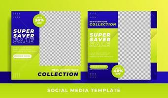 flyer or social media template furniture theme vector