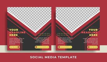 flyer or social media template business theme