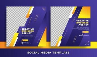 flyer or social media template business theme vector