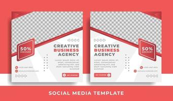 flyer or social media template business theme vector