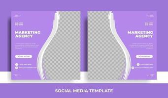promoción empresarial corporativa, plantilla de banner de redes sociales