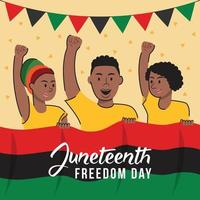 Juneteenth African Day vector