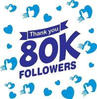 Likes, Thank You Followers vector