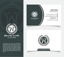 Business Card with Logo W Vector