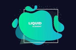 green liquid abstract element illustration