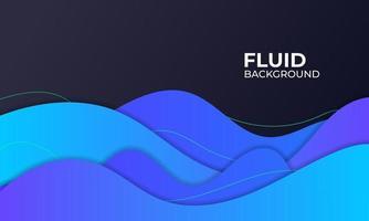 blue fluid background illustration for element graphic