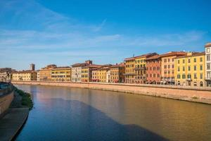 Pisa city skyline and  Arno river photo