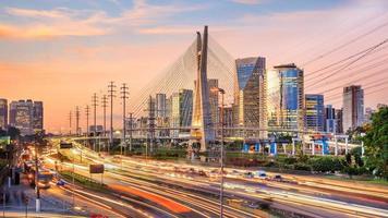 Octavio Frias de Oliveira Bridge in Sao Paulo Brazil photo