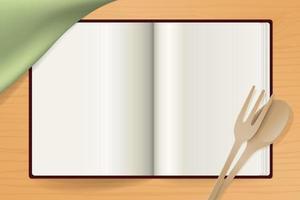 Open Cookbook to Present a Recipe vector