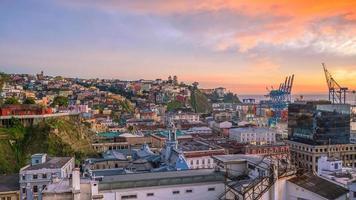 The historic quarter of Valparaiso in Chile photo