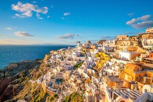 Sunset on the famous Oia city, Greece, Europe
