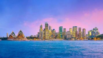 horizonte del centro de sydney foto