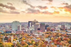 El centro de New Haven desde East Rock Park foto