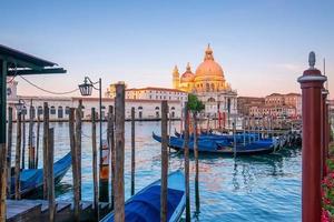 Cityscape image of Venice, Italy during sunrise. photo