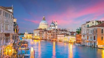 Grand Canal in Venice, Italy with Santa Maria della Salute Basilica photo