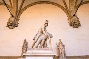 Sculpture at Piazza della Signoria in Florence photo