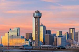Dallas City skyline at twilight photo